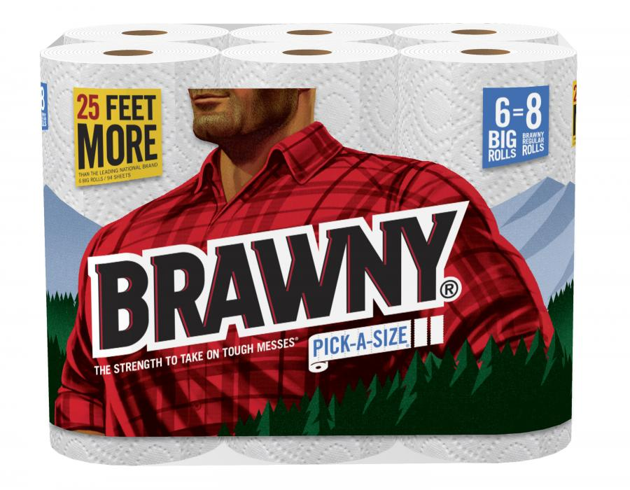The Brawny Man Now Featured On Paper Towel Packaging