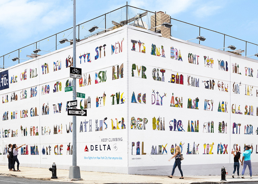 Delta And Wieden Kennedy Build On Wall Theme Midland Paper