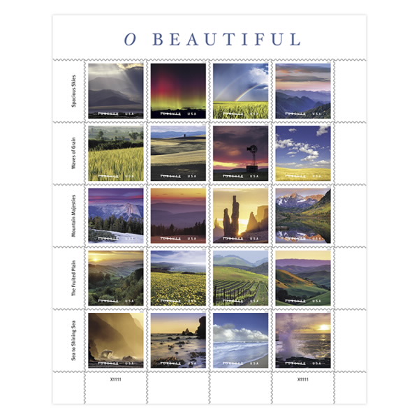 Stunning Images From Maine To Hawaii To Be Showcased On O Beautiful - United-states-forever-stamps